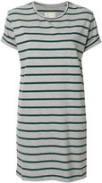 Current/Elliott short-sleeved striped dress - women - Cotton/Polyester - 0