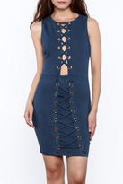 shop 17 Sleeveless Denim Bodycon Dress