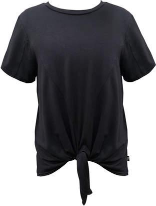 Terez Girl's Tie Front Short Sleeve Tee, Size S-XL
