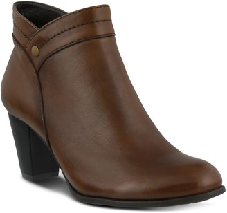 Spring Step Pull On Leather Booties - Itilia