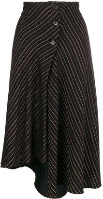 Romeo Gigli Pre-Owned 1990's Striped Asymmetric Skirt
