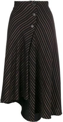 Romeo Gigli Pre Owned 1990's Striped Asymmetric Skirt