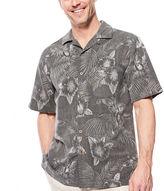 Island Shores Short-Sleeve Silk Jacquard Camp Shirt