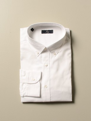 Fay Oxford Shirt With Button Down Collar