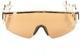 Jeremy Scott for Linda Farrow Sunglasses The M16 Sunglasses in Gold
