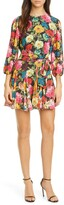 Alice + Olivia Mina Floral Belted Minidress