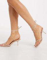 New Look wrap around sandal in oatmeal