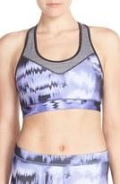 adidas Women's 'Techfit - Brushed Glitch' Climalite Sports Bra