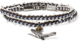 Lanvin Silver-tone, Bead And Stone Wrap Bracelet - Silver