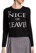 Alice + Olivia Be Nice Or Leave Graphic Sweater