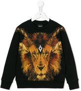 Marcelo Burlon County Of Milan Kids - lion print hoodie - kids - Cotton/Polyester - 4 yrs