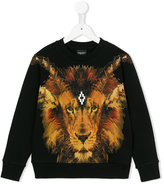 Marcelo Burlon County Of Milan Kids - lion print hoodie - kids - Cotton/Polyester - 6 yrs