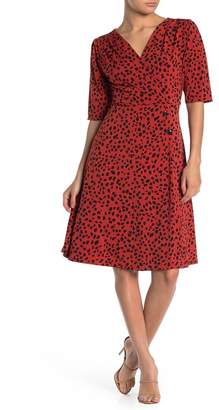 WEST KEI Cheetah Print Button Fit & Flare Dress