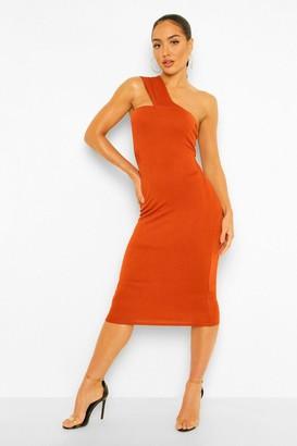 boohoo One Shoulder Bodycon Midi Dress
