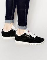 Reebok Classic Leather Clean Union Jack Trainers In Black V67817