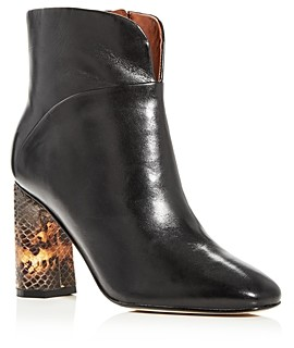 Sigerson Morrison Women's Beatrice Square-Toe Booties