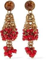 Etro Gold-plated, Bead And Crystal Earrings - one size