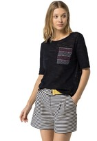 Tommy Hilfiger Final Sale- Stitch Pocket Summer Sweater
