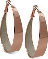 GUESS Large Inner Glitter Hoop Earrings