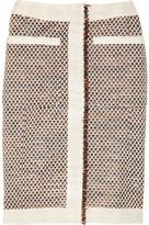 Altuzarra Cheetah metallic tweed pencil skirt
