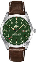 Lacoste Men's Brown Leather Strap Watch