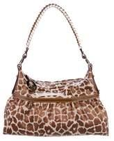 Fendi Jacquard Leopard Hobo