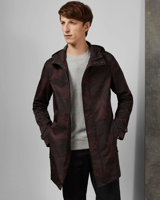 Ted Baker Printed Hooded Mac