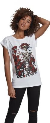 MERCHCODE Women's Ladies Grateful Dead Rose Tee T-Shirt