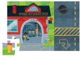 Crocodile Creek Fire Station Puzzle & Play Set