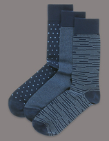 Autograph 3 Pairs Of Modal Blend Socks
