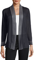 Nic+Zoe Sheer Stripe Open-Front Cardigan