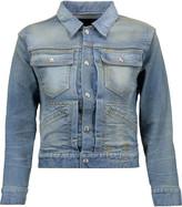 R 13 X-Shrunken Trucker appliquéd denim jacket