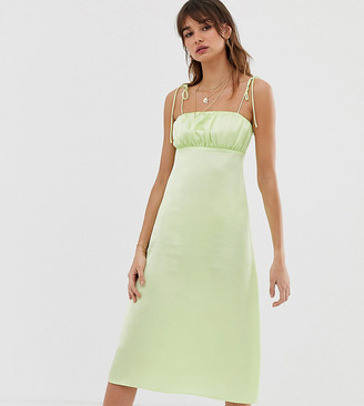 Reclaimed Vintage inspired cami midi dress-Green