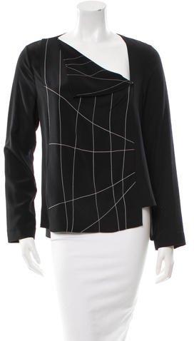 Roland Mouret Silk Long Sleeve Top