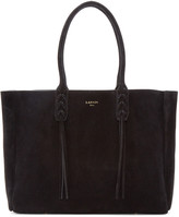 Lanvin Black Suede Small Shopper Tote