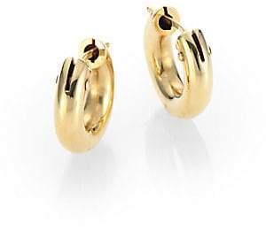 """Roberto Coin Women's 18K Yellow Gold Huggie Hoop Earrings/0.5"""""""