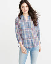 Abercrombie & Fitch Tie Sleeve Button-Up Shirt