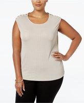 Calvin Klein Plus Size Sleeveless Metallic Top