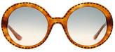 Moschino Women&s Round Glam Sunglasses