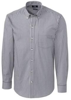 Cutter & Buck Men's Long Sleeve Stretch Gingham Shirt