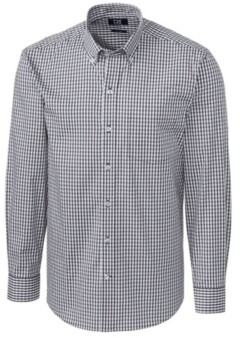 Cutter & Buck Men's Long Sleeve Stretch Gingham Shirt