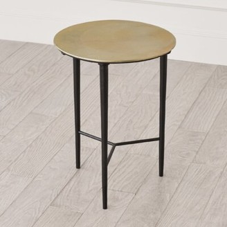 Global Views Circle Etched End Table Color: Antique Brass