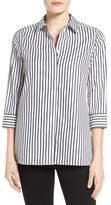 Foxcroft Women's Gigi Non-Iron Stripe Sateen Tunic Shirt