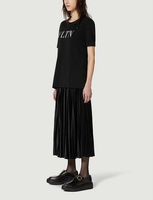 Valentino Logo-print sequin-embellished cotton-jersey T-shirt