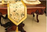 """Airdodo Luxury European 12""""x 120"""" Gold Table Runner/bed Runner"""