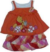 American Character Baby Girls Winnie The Pooh Checker Skirt Set 24M