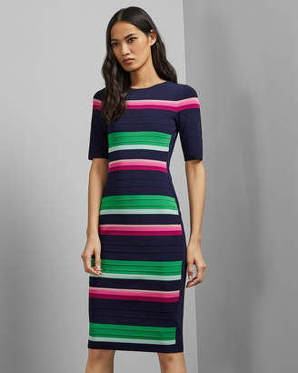 Ted Baker Stripe Knitted Dress