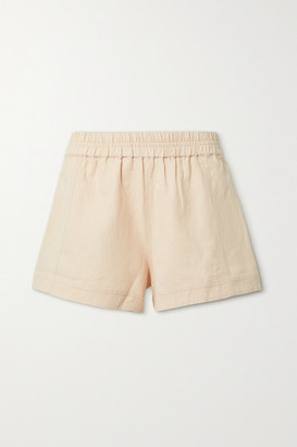 Apiece Apart Denys Linen And Cotton-blend Twill Shorts