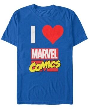 Marvel Men's I Heart Comics, Short Sleeve T-Shirt
