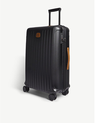 Bric's Brics Black Matt Stripe Capri Hard Case Carry On Suitcase, Size: 69cm